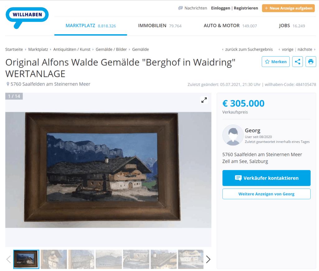 Fehler beim Kunstverkauf im Internet
